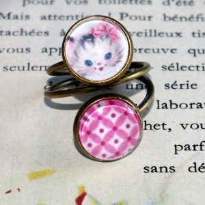 Bague double chaton